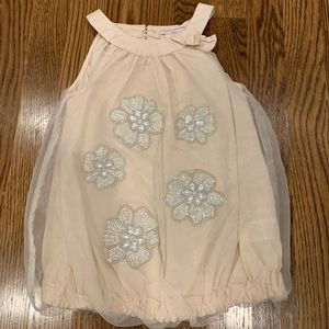 Catherine Malandrino Tulle Jewel Bubble Top/Dress